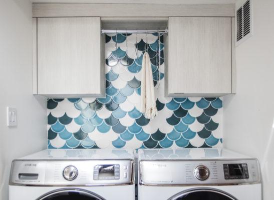 Make It Mosaic: Ogee Drop Laundry Room