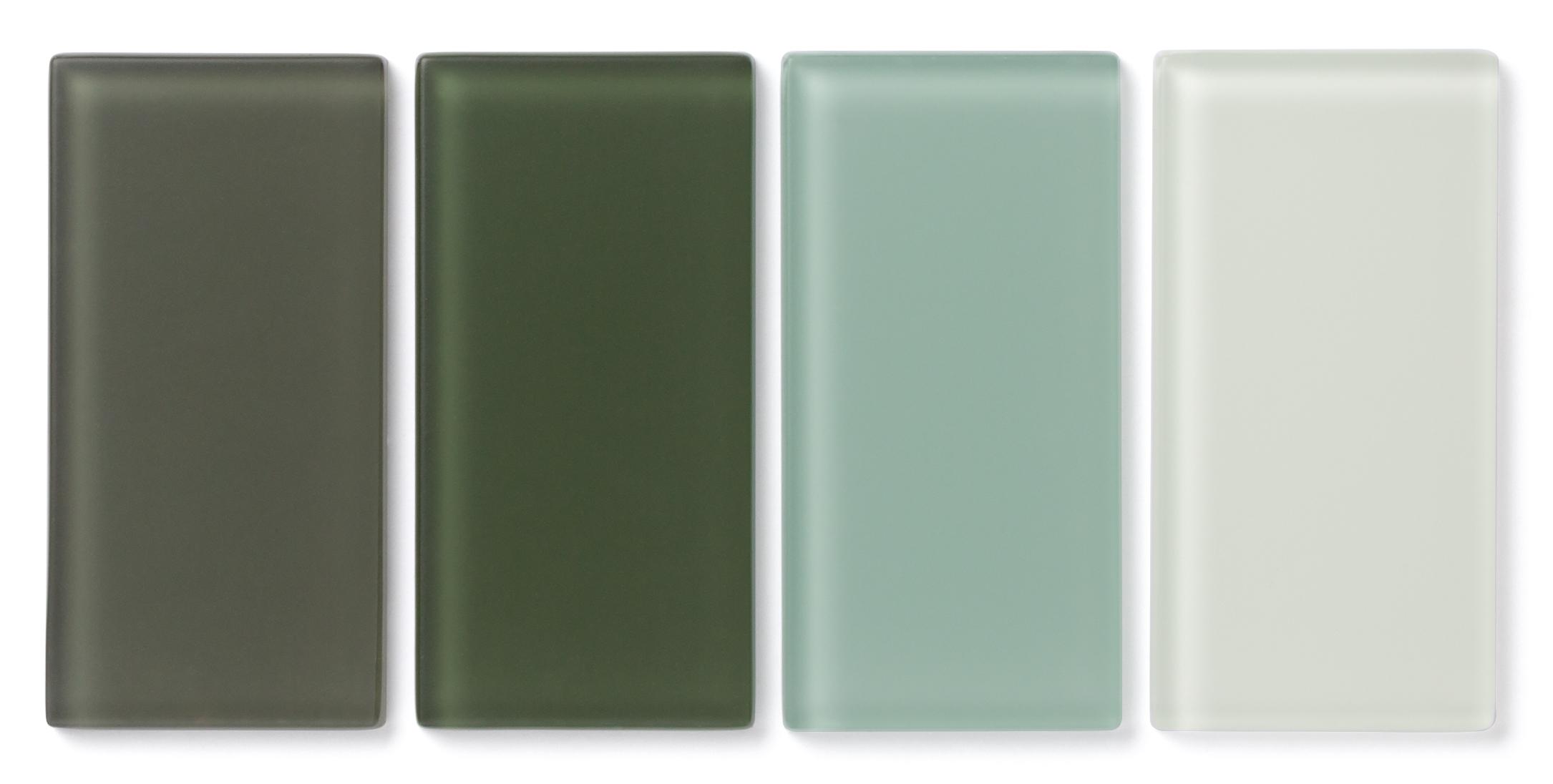 Fireclay Tile Matte Glass Greens