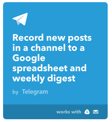 Log Telegram posts to a Google Sheet