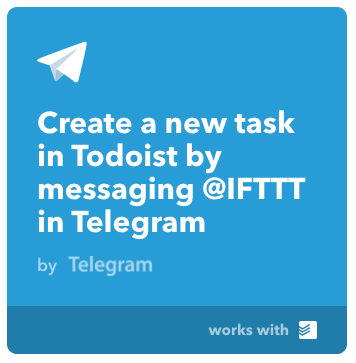 Todoist to Telegram Applet