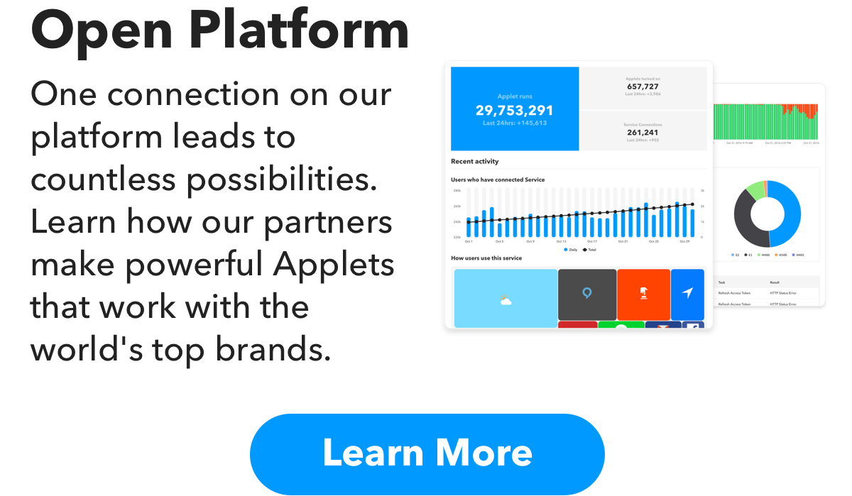 Open Platform - One connection on our platform yields countless possibilities. Learn how our partners make powerful Applets that work with the world's top brands.