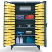 StrongHold 4-Shelf Bin Storage Cabinet