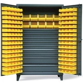 StrongHold Storage Bin Cabinets With Drawers