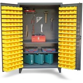 StrongHold Upright Tool Storage Bin Cabinet
