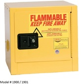 2 - 12gal. Eagle Flammable Liquid Cabinets