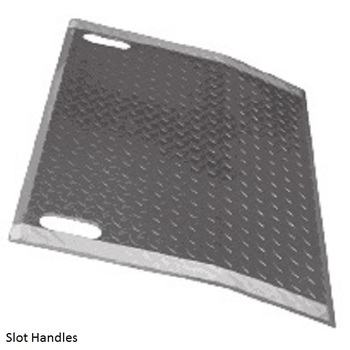B&P Aluminum Dock Plates with handle slot (E-3624-HS)
