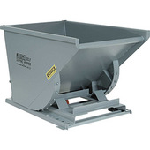 Meco Omaha Low Profile Extra Heavy Duty Self Dumping Hopper Grey Enamel