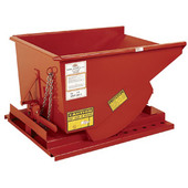 Meco Omaha Low Profile Extra Heavy Duty Self Dumping Hopper Orange Enamel