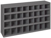 "Durham 9"" Deep Sloped Shelf 32 Bins"