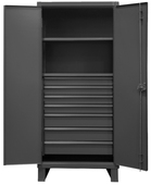 Durham 12 Gauge Extra Heavy Duty Cabinets 2 Shelves With 7 Drawers
