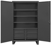 Durham 12 Gauge Extra Heavy Duty Cabinets 4 Shelves With 6 Drawers