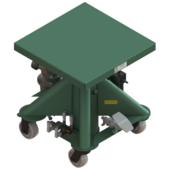 "Lange-Lift 24"" x 24"" Air Powered Lift Tables"
