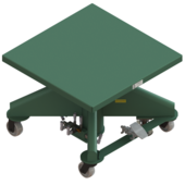 "Lange-Lift 36"" x 36"" Air Powered Lift Tables"