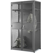 Folding Guard TA-50 Lockers - Expanded Metal