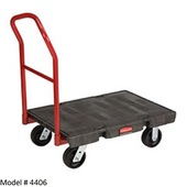 Rubbermaid Polyethylene Platform Trucks (4406)