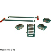 Hilman Light Duty Rollers riggers sets 3 and 8 ton capacity