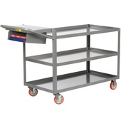 Little Giant 3-Shelf Order Picking Trucks With Storage Pocket