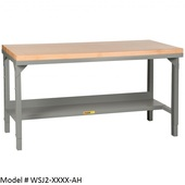 Little Giant Adjustable Butcher Block Topped Workbenches