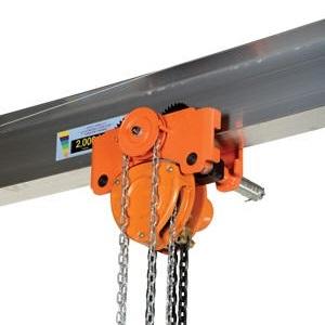 Vestil Low Headroom Chain Hoist Amp Trolley F E Bennett Co
