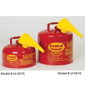 Eagle Type 1 Safety Cans With Funnel (UI-20-FS UI-50-FS)