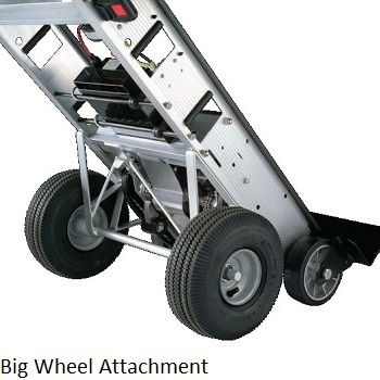Stair climber hand truck rental bing images for Motorized stair climbing dolly