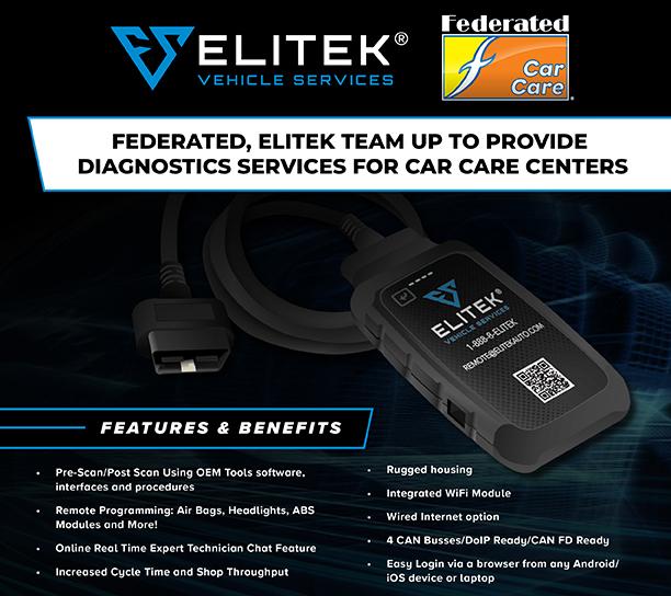 Federated, Elitek Team Up to Provide Diagnostics Services for Car Care Centers