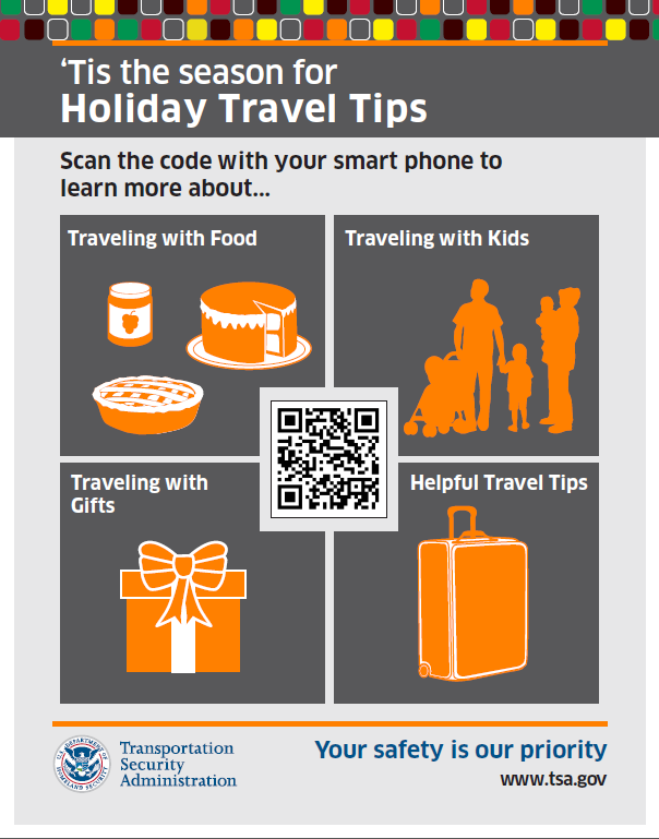 Holiday Travel Tips TSA Has A QR Code And App For That