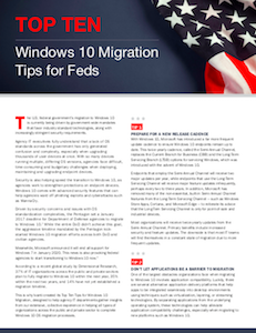 FedScoop report on Windows 10 migration