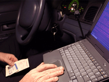 Laptop in Cop Car