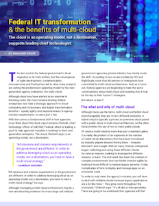 FedScoop report on Federal government benefits for multi-cloud