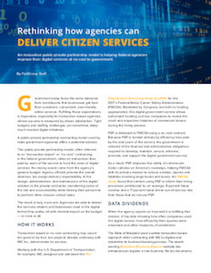 FedScoop report on public-private partnership model to deliver citizen service
