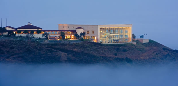 Reagan Presidential Library from distance