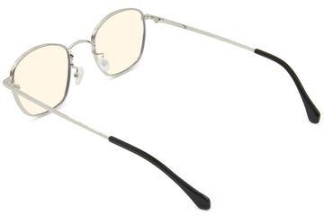 Haro sleepglasses in silver viewed from rear