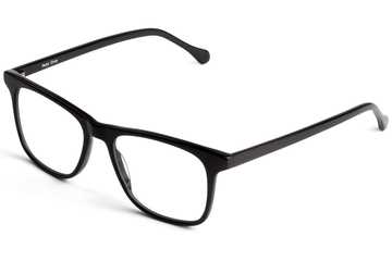 Jemison eyeglasses in black viewed from front
