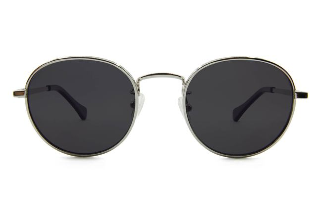 Hamilton sunglasses in silver viewed from front