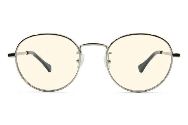 Hamilton sleepglasses in silver viewed from front