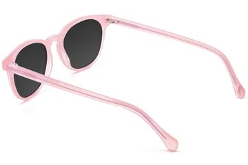 Roebling sunglasses in rose mallow viewed from rear