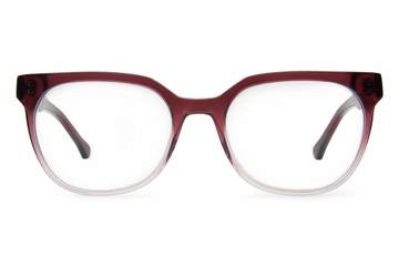 Kelvin eyeglasses in gamay fade viewed from front