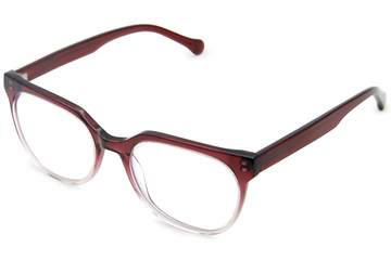 Kelvin eyeglasses in gamay fade viewed from angle