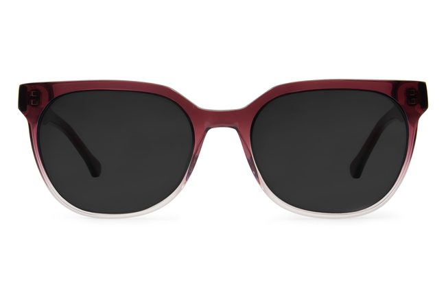 Kelvin sunglasses in gamay fade viewed from front