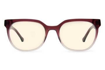 Kelvin sleepglasses in gamay fade viewed from front