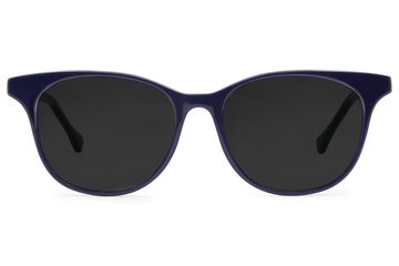 Lovelace sunglasses in cayuga blue viewed from front