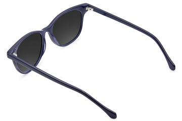 Lovelace sunglasses in cayuga blue viewed from rear