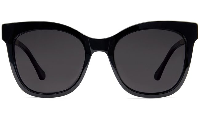 Stevens sunglasses in black viewed from front