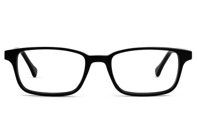 Carver LBF eyeglasses in black viewed from front
