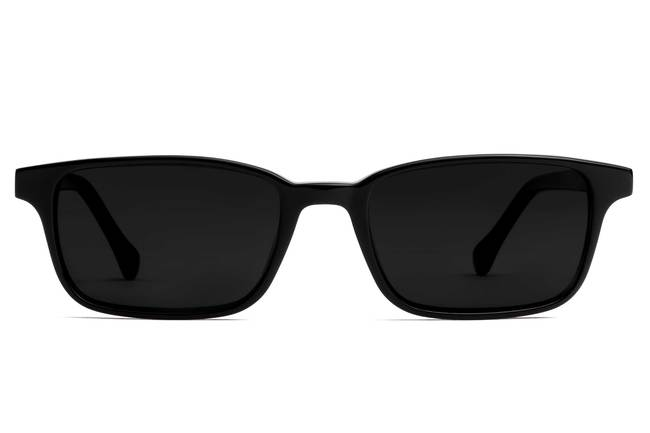 Carver LBF sunglasses in black viewed from front