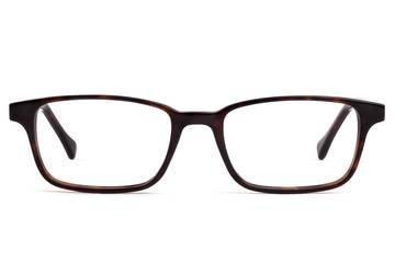 Carver LBF eyeglasses in mahogany viewed from front