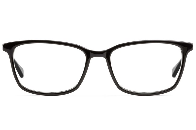 Faraday LBF eyeglasses in black viewed from front