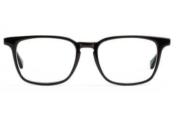 Nash LBF eyeglasses in black viewed from front