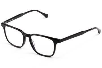 Nash LBF eyeglasses in black viewed from angle